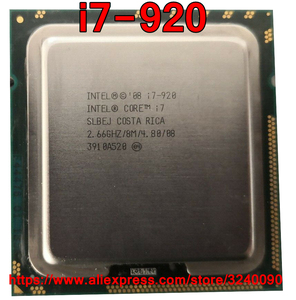 Original Intel CPU Core i7-920 Processor i7 920 2.66GHz 8M 4-cores Socket 1366 free shipping speedy ship out