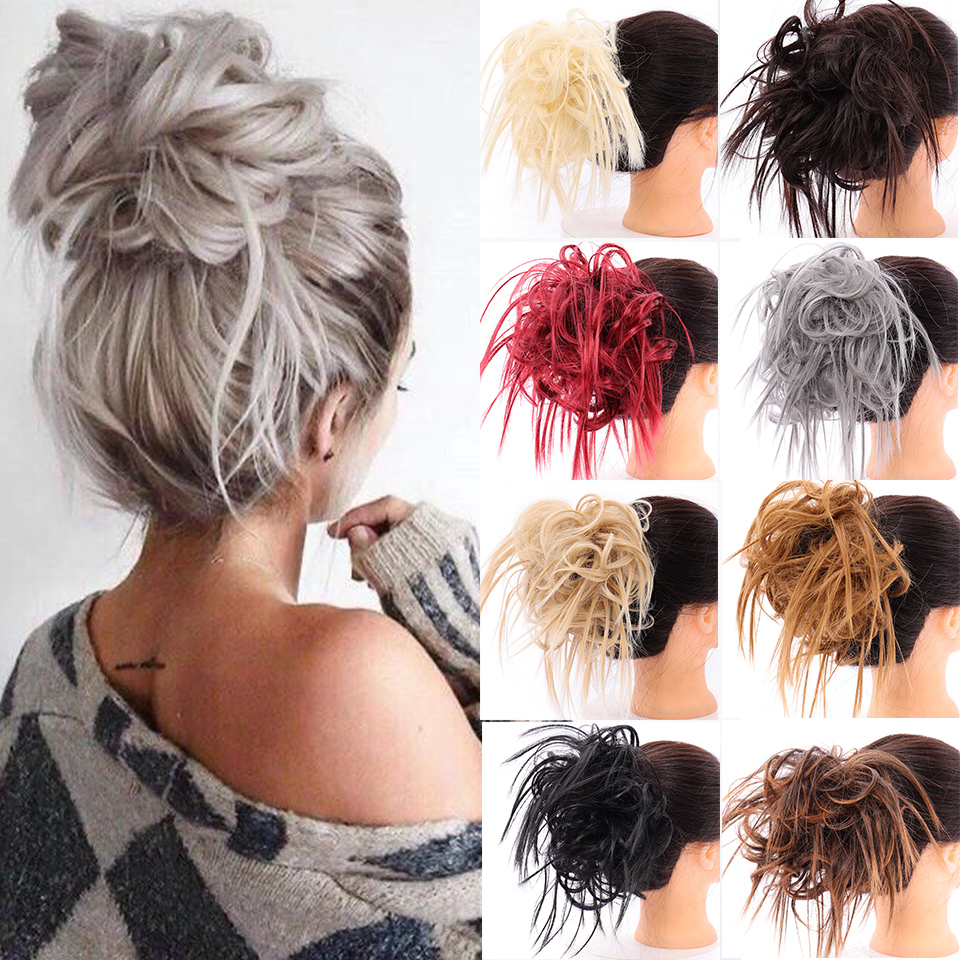 MUMUPI  Synthetic Rose Hair Bun Bagel Hair Donut Hair Bun Hair Chignon Hairstyle Ponytail Hair Clips Holder Hair String