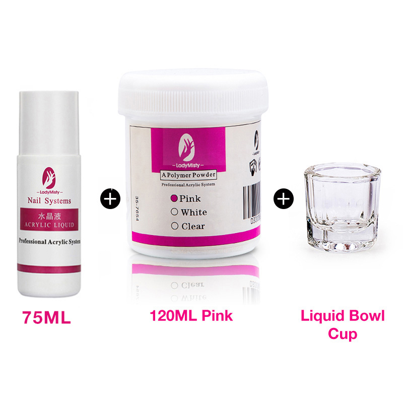120ml Acrylic Powder Clear Pink White Carving Crystal Polymer 3D Nail Art Crystal Powders Builder Gel Tips Builder for Nails 10
