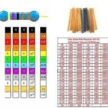 1300 шт. 1/4 Вт 1% 130 ценности* 10 шт. 1ohm-3M Ом резисторы комплект металлического пленочного резистора посылка в общей сложности по ограничению на использование опасных материалов в производстве электрический блок образцов