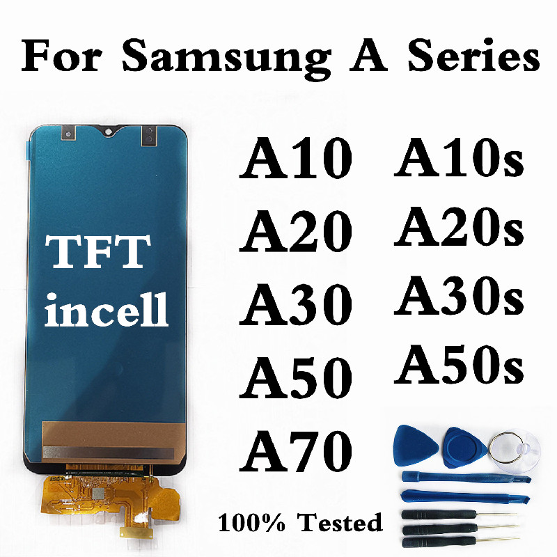 Incell TFT For <font><b>Samsung</b></font> A20 A205 Display For <font><b>Samsung</b></font> <font><b>A10</b></font> A10s A30 A30s <font><b>LCD</b></font> Display <font><b>Screen</b></font> For <font><b>Samsung</b></font> A50 A50S A70 <font><b>Screen</b></font> Display image