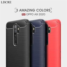 For Oppo A9 2020 Case Business Style Soft Silicone Shell Rubber Protective Phone Cover