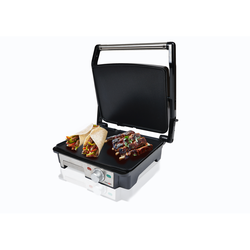 Sogo Panini Grill, Grill guard Electric 2000 W, surface 28x22,5 cm, with Plates Nonstick and 180 ° Open, Cleaning Easy