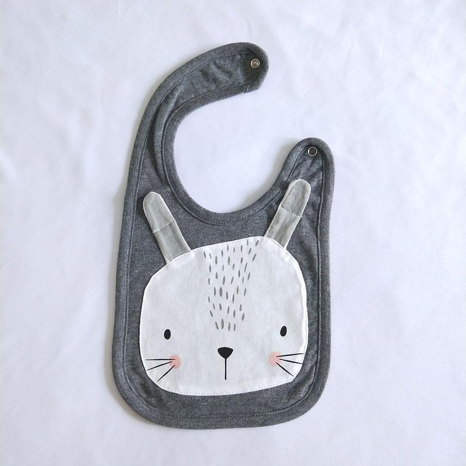 gray rabbit bib