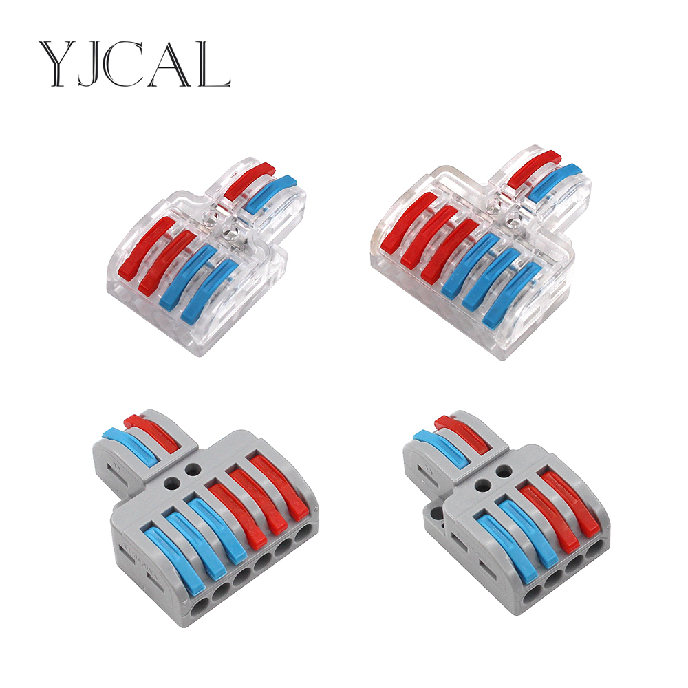 New Type SPL-42 62 Wire Connector 2 In 4/6 Out Wire Splitter Terminal Electrico Block Compact Wiring Splicing Conector Eletrico