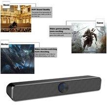 HIFI портативный домашний USB проводной стерео легкий мини звук бар кинотеатр Настольный пластиковый ТВ динамик без потерь