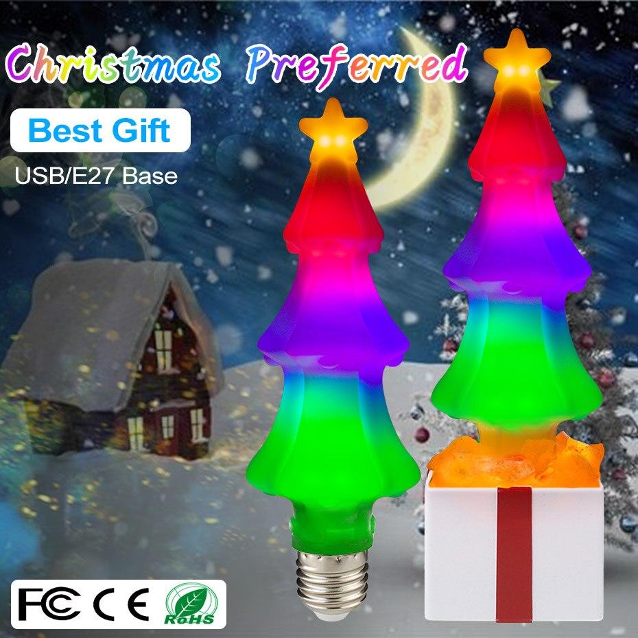E27 Xmas Tree Light Bulb With USB Port AC85-265V/DC5V Energy Saving Outdoor Christmas Decorations Lights For Bedroom Party