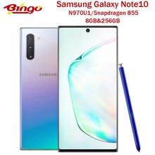 Оригинальный смартфон Samsung Galaxy Note10 N970U N970U1, Snapdragon 855 восемь ядер, экран 6,3 дюйма, Тройная Двойная камера 12 МП и 16 Мп, 8 ГБ ОЗУ и 256 ГБ NFC