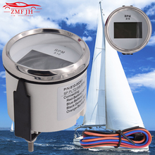 52mm New Marine Digital Tachometer Tacho Gauge With Hourmeter Waterproof 0-9990RPM Car Truck Boat цена