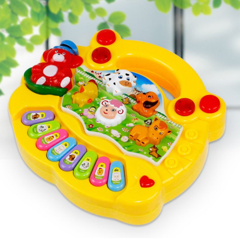 Mini Colorful Piano Animal Sound Musical Instrument Toddlers Durable Plastic Kids Development Early Educational Toy