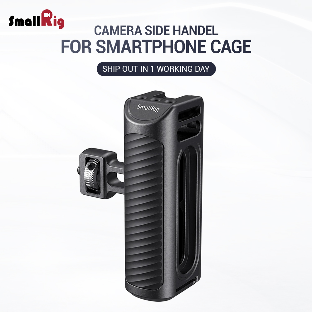 SmallRig Vlogging Kit Smartphone Aluminum Side Handle For Smartphone Cage With Cold Shoe Mount For Microphone DIY Options 2424