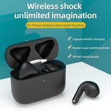 Fones de ouvido sem fio com microfone 9d estéreo android ios universal tws bluethooth 5.0 versão reconhecimento ouvido automático