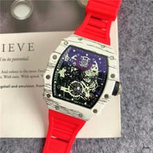Pełna funkcja nowy Richard męskie zegarki Top marka luksusowe zegarki męskie Mille DZ mężczyzna zegar kwarcowy automatyczne zegarki na rękę tanie tanio ZHIMO Luxury ru QUARTZ STAINLESS STEEL Nie wodoodporne CN (pochodzenie) Klamra 20mm Hardlex Male watch 20inch Skórzane