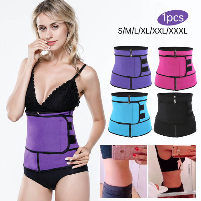 Neoprene Fitness Waist Trainer Corset Sweat Belt for Women Weight Loss Compression Trimmer Workout Body Shaper Fitness S-3XL