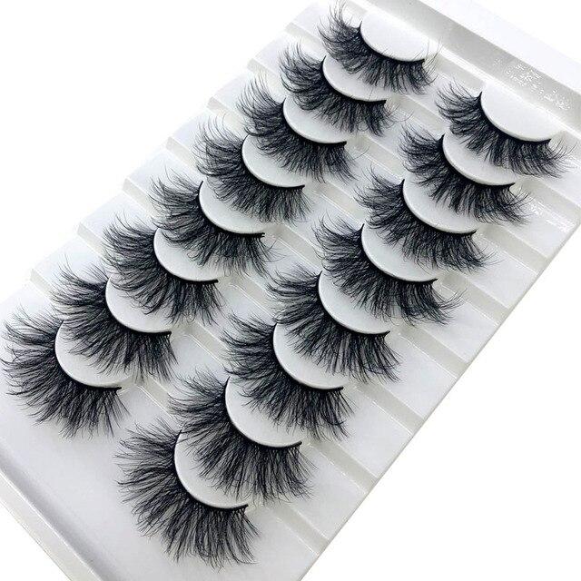 HBZGTLAD New 8 pairs 15-23mm natural 3D false eyelashes fake lashes makeup kit Mink Lashes extension mink eyelashes maquiagem 4