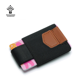 Fashion Men Business Cash ID Card Holder RFID Blocking Slim Leather Wallet Coin Purse card case credit card wallet rfid wallet new universal rfid blocking 5 pull credit card holder cell phone wallet case stick adhesive