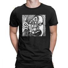 Junji Ito T Shirts Anime Manga Japan Weeaboo Otaku Horror T-Shirt Men Short Sleeve Stylish Tee Shirt Purified Cotton Tops Normal