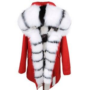 Image 4 - จริงขนสุนัขจิ้งจอกเสื้อแจ็คเก็ตแฟชั่นฤดูหนาวหญิงยาว Fox FUR COLLAR JACKET หญิง WARM Fox FUR พายเอาชนะสุภาพสตรี