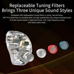 Image 2 - NICEHCK NX7 Pro 7 unités de pilote HIFI écouteur 4BA + double CNT dynamique + céramique piézoélectrique hybride remplaçable filtre face IEM