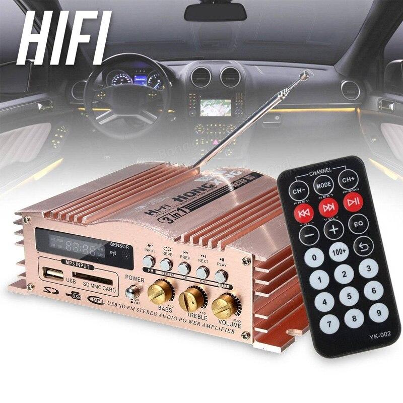 12V//220V 800W Bluetooth Audio Car Auto Amplifier Verstärker Stereo Multifunction