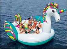 Надувной гигантский единорог 6 человек плавающий бассейн остров