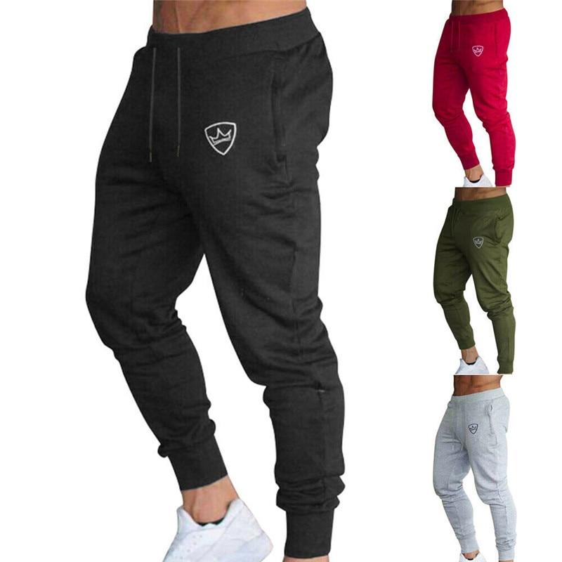 Autumn Pants Men Joggers Slim Fit Tracksuit Sport Gym Skinny Jogging Sweatpants Grey Casual Elastic Cotton Workout Pencil Pants