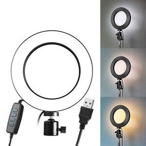 Image 1 - 9ซม./16ซม.LED Lightชุดหรี่แสงได้3200K 5500K Annular Make Upโคมไฟและขาตั้งกล้องสำหรับสตูดิโอถ่ายภาพแสง