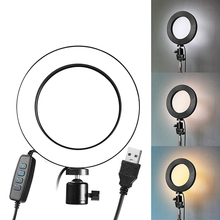 9CM/16CM LED Ring Light Set Dimmable 3200K 5500K Annular Make up Lamp &Tripod For Studio Photo Photography Lighting