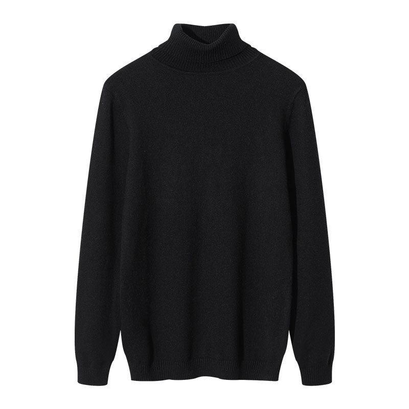 Large Size Men's Autumn And Winter Sweater Sweater High Collar Sweater Plus Fertilizer To Increase Warm Clothing
