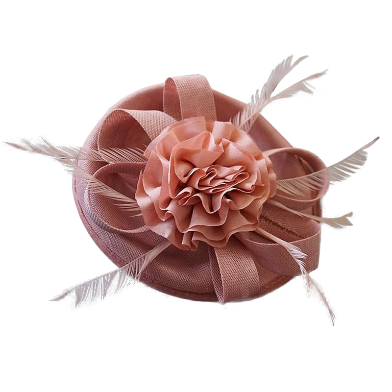 Women Chic Hat Cocktail Wedding Party Church Headpiece Kentucky Headwear Feather Hair Accessories