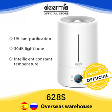 Deerma Air Humidifier 5L Germicidal Lamp Digital Screen Display Humidifier Diffuser F628s For Home Appliance Official Store