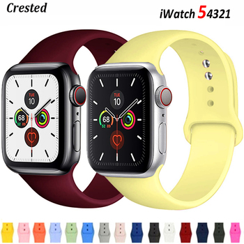 sport strap for apple watch band 44mm 40mm 42mm 38mm silicone bracelet smart wristband correa for iwatch series 6 5 4 3 2 1 se Silicone For Apple Watch Strap 44mm 40mm 38mm 42mm Correa wristband Sport belt bracelet iWatch band serie 3 4 5 se 6 Watchbands
