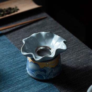 Qingyun Moon sitko do herbaty grupa ceramiczna herbata Kung Fu sitko do herbaty filtr do herbaty siatki Grill ceremonia herbaty Zero mecz filtr do herbaty zestaw do herbaty tanie i dobre opinie CN (pochodzenie)