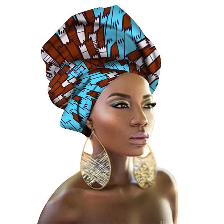29 צבע אפריקאי ראש כורכת ניגרית Gele Headtie לנשים עשיר הדפסת סרט מסורתית Bazin שמלות צעיף 50*180CM