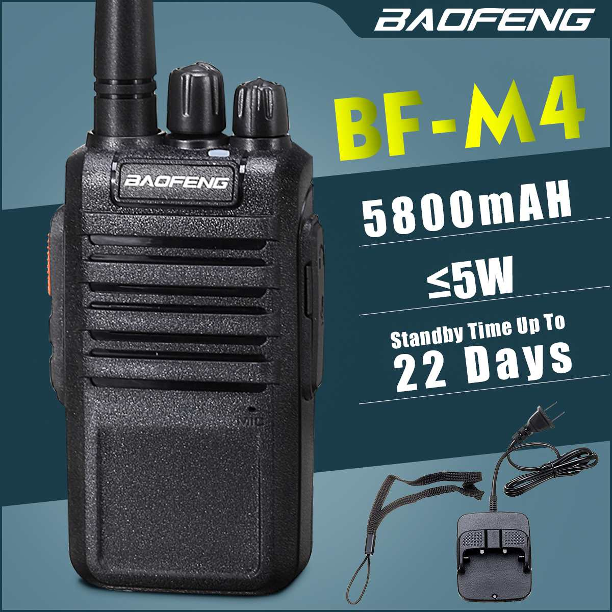BAOFENG BF-M4 Walkie Talkie Two Way Radio UHF 400-470MHz 16CH Portable Transceiver With Antennas Long Time Standby Walkie Talkie