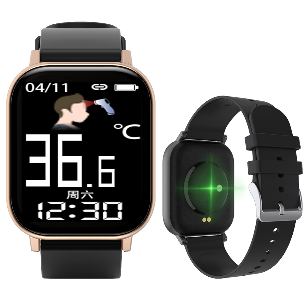 GTR-H Smart Watch with Body Temperature Men Women Heart Rate Blood Pressure Monitor Fitness Tracker Smart Wristband Sport Watch