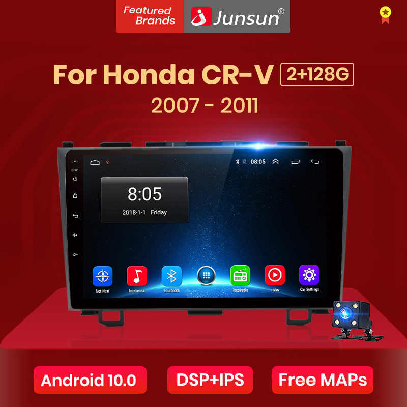 Junsun V1 2G + 128G Android 10.0 Per Honda CR-V 3 RE crv 2007 2008 2009 - 2011 auto Radio Multimedia Video Player GPS RDS 2 din dvd