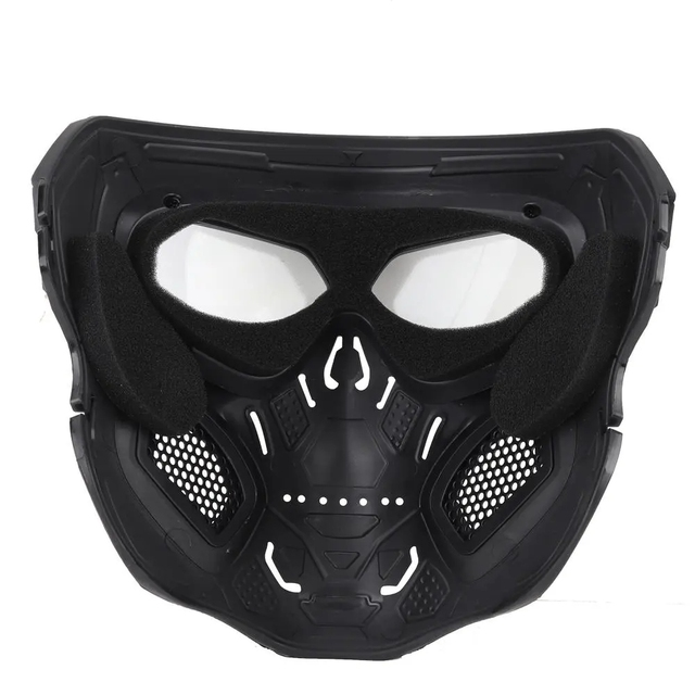 Wosport Skull Tactical Airsoft Mask Paintball CS Military Protective Full Face For Fast Helmet #d 5