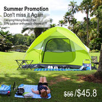 Promotion 2/4/6 People Camping Tent Large Space Family Tent Waterproof Beach Awning Hiking Backpack Tent