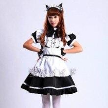 Venda quente alice no país das maravilhas traje bonito vestido maid cosplay fantasia carnaval trajes de halloween para feminino maid uniforme traje