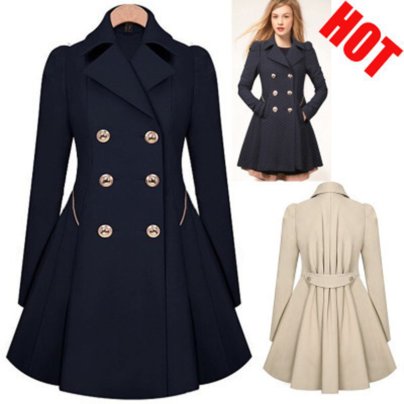 BZBFSKY Explosive Windbreaker Commuter Slim Slimming Double-breasted Coat Windbreaker Jacket Women Long Coat  Winter Women