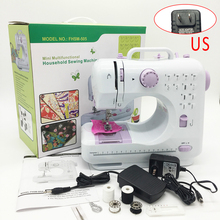 Portable Sewing Machine Mini Electric Household Crafting Mending Overlock 12 Stitches with Presser Foot Pedal Beginners