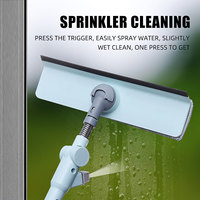 New Telescopic Window Glass Wiper Cleaner Brush Rod Scrubber Window Cleaner Scraper With Spray Head Household Cleaning Tools