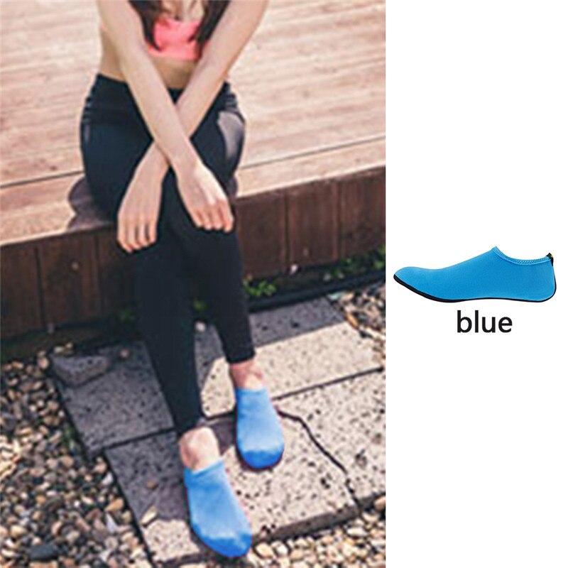 Водонепроницаемая обувь; обувь для плавания для мужчин и женщин; пляжная обувь для кемпинга; обувь для йоги; складная обувь унисекс для взрослых; мягкие Прогулочные кроссовки на плоской подошве; Новинка - Цвет: blue