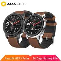 Oryginalny Huami Amazfit GTR 47mm 42mm inteligentny zegarek ekran amoled 5ATM wodoodporny GPS GLONASS 12 tryby sportowe dla android ios