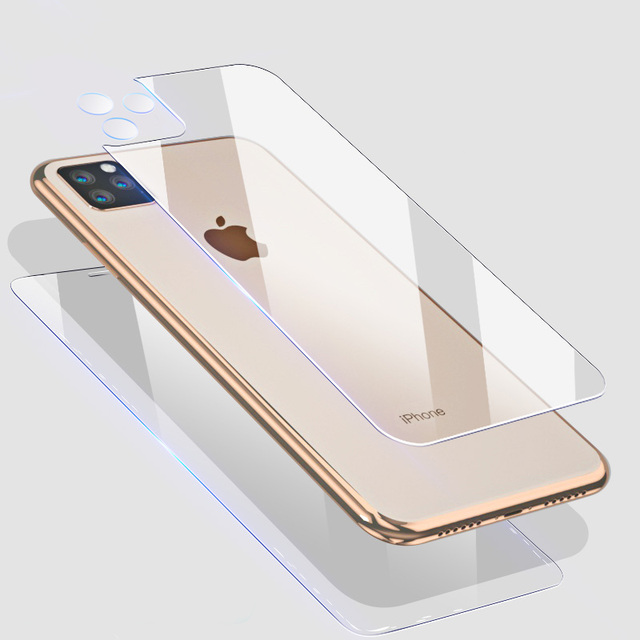 15H Front+Rear Back+Lens Camera Film For iPhone 11 Pro Max 11 X XS XR Temper Glass Full Body Screen Film Protector for iPhone 11