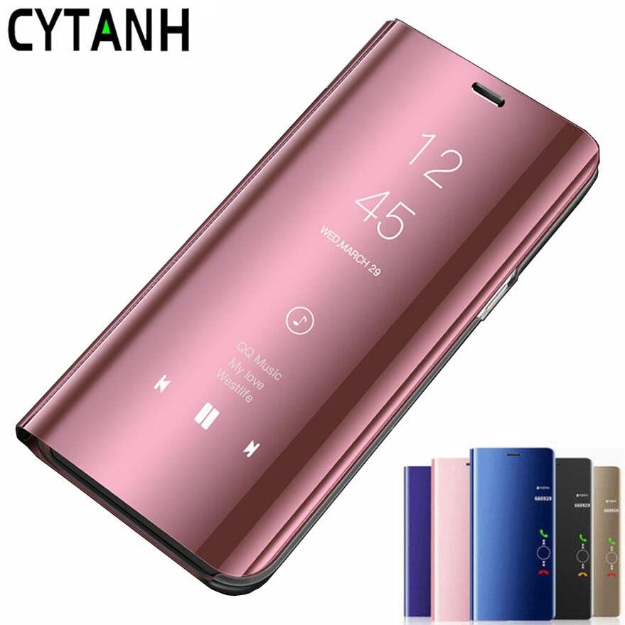 Espejo retrovisor Smart Flip caso de Huawei P20 de lujo magnética original fundas HuaweiP20 Huawei P 20 EML-L09 EML-L29 en la cubierta del teléfono