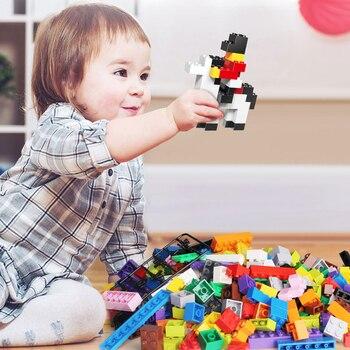Building Blocks City DIY Creative Bricks Bulk Model   Kids Assemble Toys Compatible All Brand Small Size 3