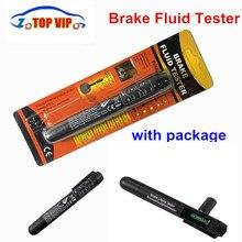 50 шт. DHL мини-тестер автомобильный тестер тормозной жидкости для Dot3/DOT4 батареи жидкостное цифровое тестирование 5LED индикатор влажности воды компактный