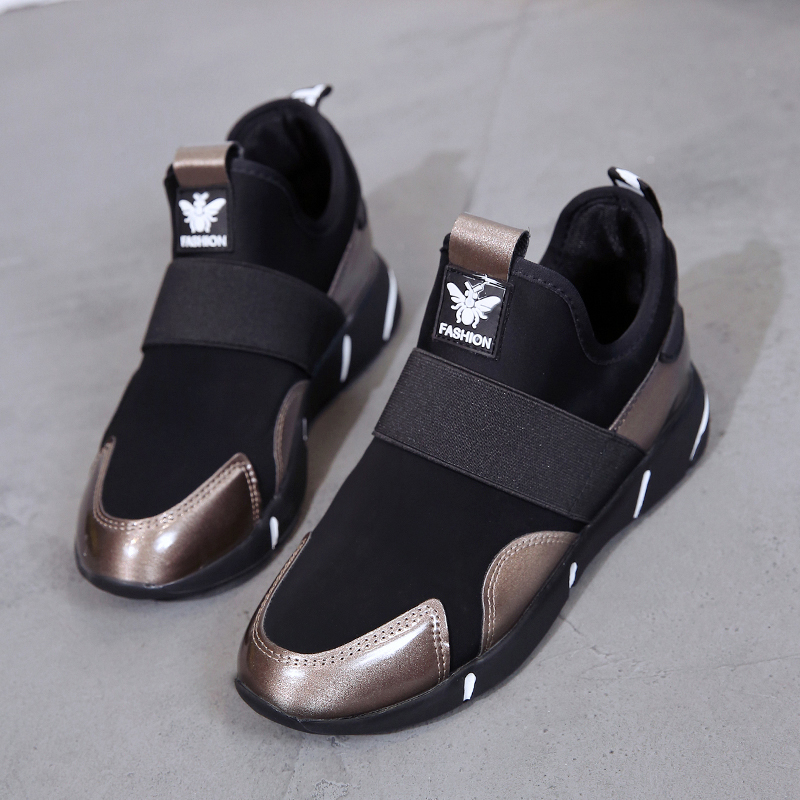 Plus Size 35-42 2019 Women Sneakers Vulcanized Shoes Ladies Casual Shoes Breathable Walking Mesh Flats Large Size Couple Shoes